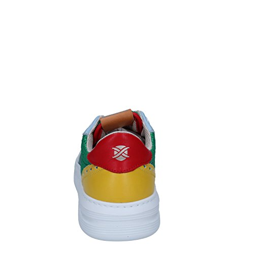 Brimarts Tessuto Bianco Pelle Verde Uomo Sneakers R6wqrRP