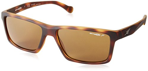 Arnette Biscuit AN4208-02 Polarized Rectangular Sunglasses, Brown, 57 - Sunglasses Arnette