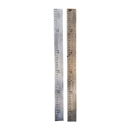 Growth Chart for Kids Made from Reclaimed Rustic Wood - Hand Painted - No Vinyl (Whitewash)