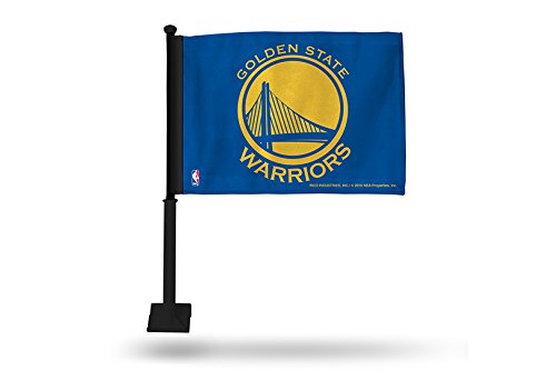 Rico NBA Golden State Warriors Car Flag, Blue, with Black Pole