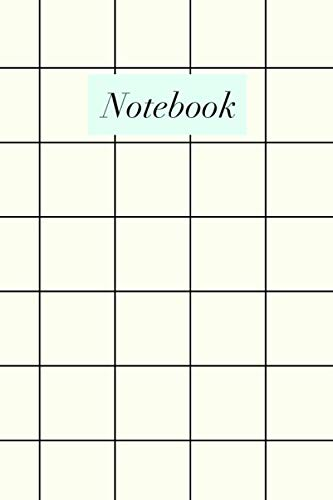 Notebook: Cute Lined Journal with Modern Black, White, and Mint Green Cover Design for School, Home, and Office