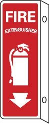 NMC FX124R FIRE EXTINGUISHER (VERTICAL), (DBL FACED FLANGED), 12X4, RIGID PLASTIC
