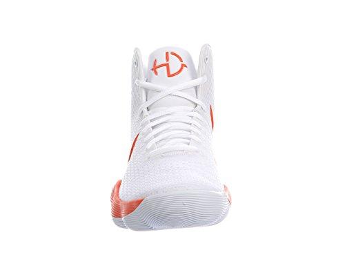 Nike Heren Reageren Hyperdunk 2017 Nylon Hardloopschoenen Wit / Briljant Oranje