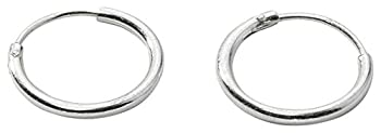 """Sterling Endless Hoop Earrings for Cartilage, Nose and Lips, 3/8"""", Small"""