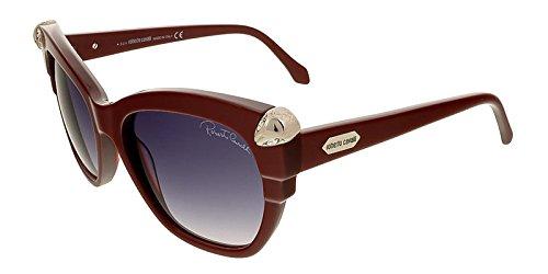 Roberto Cavalli RC907/S 69B Mesarthim Burgundy Square Sunglasses (Designer Square Sonnenbrille)