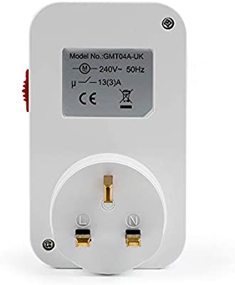 a Electronic Plug-in Mechanical 24Hour Timer Switch Socket Adapter UK Plug for Small Home Appliances as described
