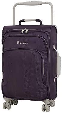 it baggage World's Lightest New York Softside 8 Wheel Spinner, Purple Pennant With Cobblestone Trim, Carry-On 22-Inch