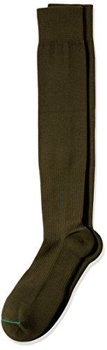 Travelsox TSS6000 Patented Graduated Compression Performance Travel & Dress Socks with DryStat OTC Pairs (Medium, Olive)