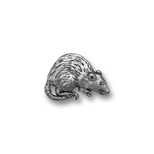 Pet Rats In Costumes (Pewter Rat Lapel Pin by The Magic Zoo)