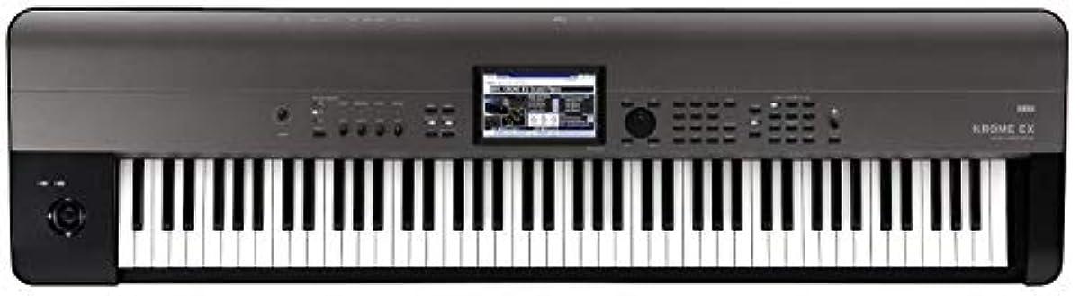 [해외] KORG 키보드 신디사이저 KROME EX 크롬 88 건음악 제작 스테이지 라이브 퍼포먼스 피아노 건반 컬러 터치 패널 탑재