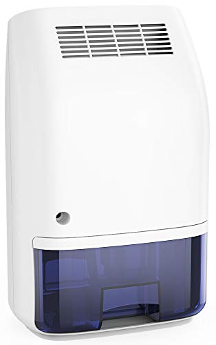 Afloia Electric Home Dehumidifier, Portable Dehumidifier for Home Bedroom 700ml (24fl.oz) Deshumidificador,Quiet Room Small Dehumidifiers for Home Bathroom Bedroom Dorm Room Baby Room RV Crawl (Best Price Dehumidifier For Basement)