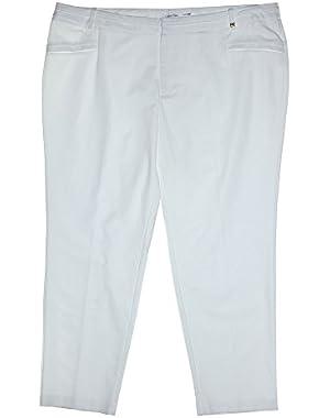 Calvin Klein Women's Plus Size Essentials Casual Pants 16w Soft White