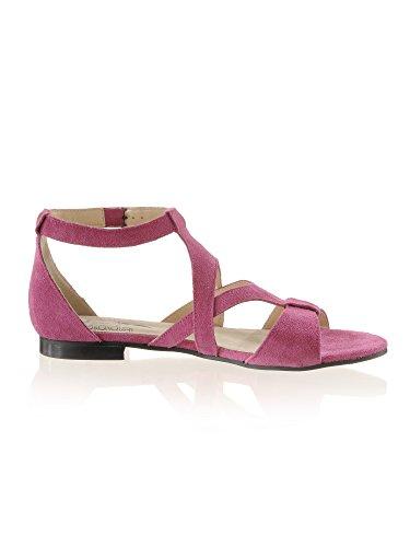 Moda Sandalette Rindsveloursleder weichem Pink aus Alba BAwq0O