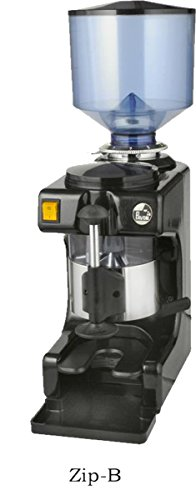 La Pavoni ZIP-B Commercial Coffee Grinder 2.2-Pound Capacity Hopper, Multiple Grind Settings, Black and Stainless Steel by La Pavoni