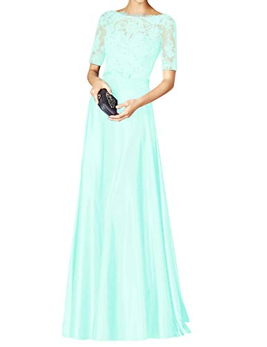 Beaded Lace Sleeves Bridal Dress Bess Formal Prom s Mint Evening Short Women Green Party qYxIwCnHw