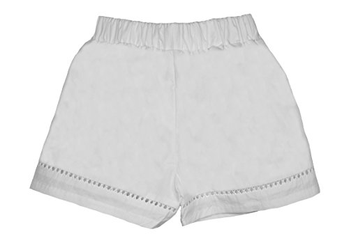 ContiKids Girls' Comfortable Fashion Shorts 7 White by ContiKids (Image #1)