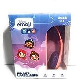 Emoji Kid Safe Headphones With Volume Limiting Technology (Pink & Purple Princess)
