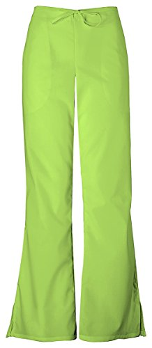 - Cherokee Women's Adjustable Flare Drawstring Pant_Lime Green_X-Large Tall,4101T