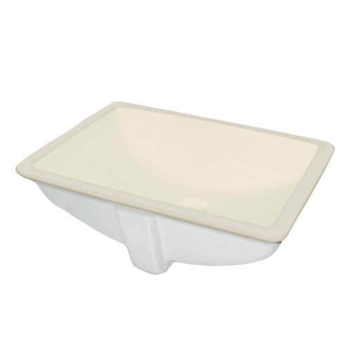 Undermount Lavatory Biscuit - Samson TL-1580-08 Harrison Rectangular Undermount Vitreous China Lavatory, Biscuit