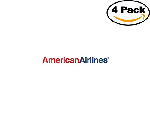 American Airlines 28834 4 Stickers 4X4 inches Car Bumper Window Sticker Decal