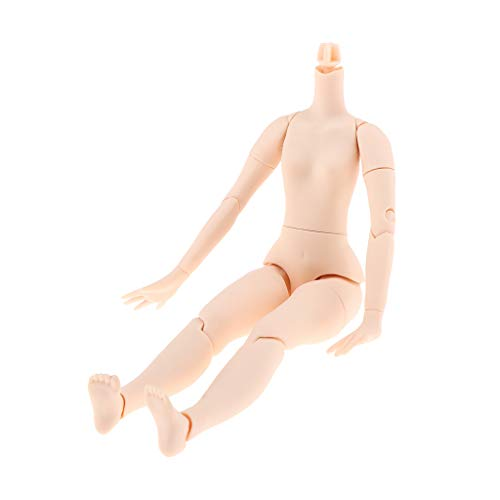 Flameer 19 Articulated Doll Body, Moveble Girl Doll Body for Blythe Doll Custom DIY Making Supplies (White Skin)