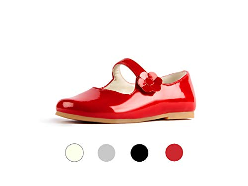 Subibaja Merceditas - Mary Jane Narrow Flat Shoes with Straps for Baby Girls | Toddlers RP5.5T