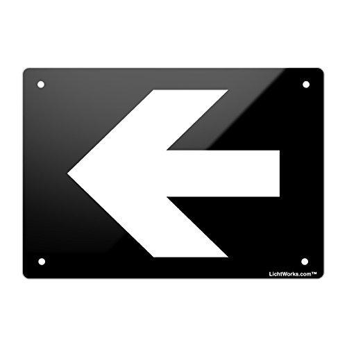 fl/èche directionnelle en Aluminium Plaque en m/étal Gauche 30,5/x 20,3/cm; con/çu par Wennuna
