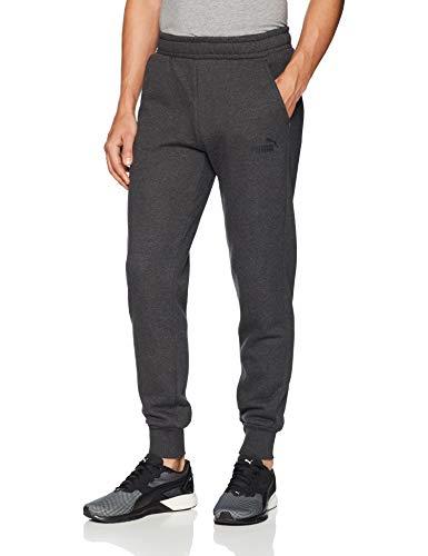 (PUMA Men's Essential Logo Pants Fleece CL Dark Gray Heather Medium 31)