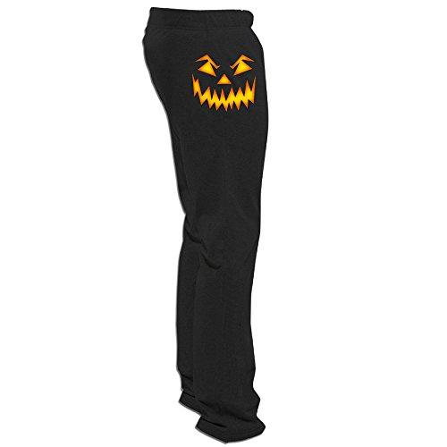 Megge Men's Pumpkin Face Halloween 1 Comfortable Athletic Lounge Sweatpants Black XXL ()