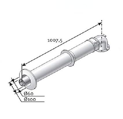 Fyg Ventosa Chimenea Caldera condensacion Saunier Vaillant 60/100