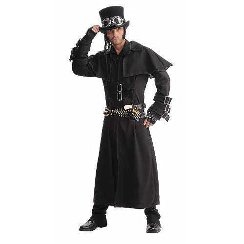 Forum Novelties Menu0027s Ste&unk Duster Coat Black One Size Costume  sc 1 st  Amazon.com & Plague Doctor Costume: Amazon.com