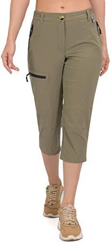 Mapamyumco Women's Ultra Breathable Lightweight Quick Dry Capri Pants Slim Golf Hiking
