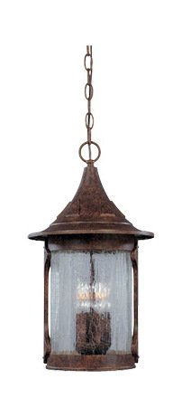 Chestnut 4 Light 11in. Cast Aluminum Hanging Lantern from the Canyon Lake Collection
