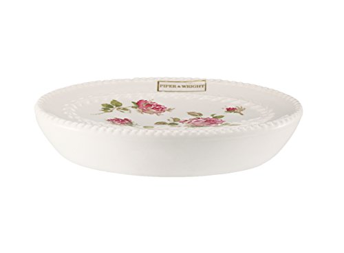 Five Queens Court Rosalind Country Chic Floral Bathroom Accessories, Soap Dish, Pink Rose