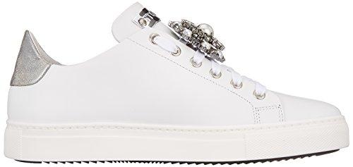 da Donna Sneaker Silver Scarpe Ginnastica Bianco White Stokton Basse 4Uwqff