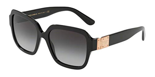 Dolce and Gabbana DG4336 501/8G Black DG4336 Square Sunglasses Lens Category 3 (& Gabbana Sunglasses Dolce)
