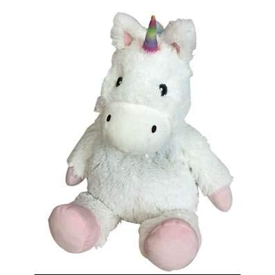 White Unicorn - WARMIES Cozy Plush Heatable Lavender Scented Stuffed Animal: Health & Personal Care