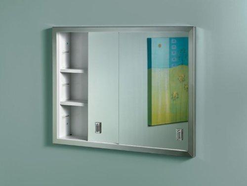 Jensen B703850 Contempora 2-Door Medicine Cabinet, 24-Inch by 19-Inch, Stainless -