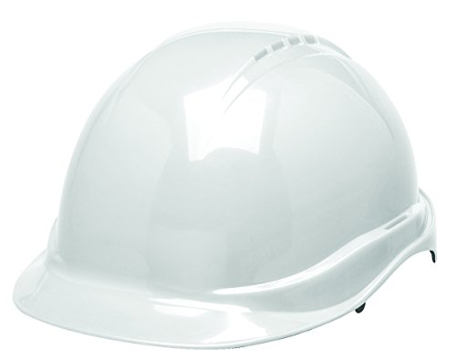 Elvex WELSC506RWHITE Tectra Smart Design Safety Helmet Non-Vented With 6 Point Ratchet In White, 11
