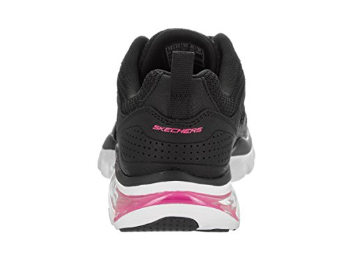 Skechers 12302 Damen Sneakers Black/White/Pink