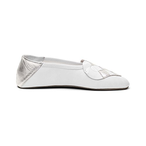 A. Andreassen Women's Italian Leather Elskling Slipper ''White Metallic Pearl'' (9 US 40 EU 41 IT) by A. Andreassen (Image #5)