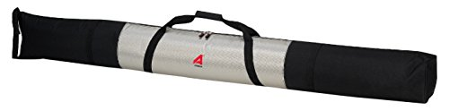 185 Cm Skis (Athalon Single Ski Bag Unpadded - 185cm, Silver/Black)