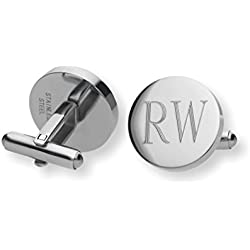 Personalized Custom Monogram Initial Cufflinks Cuff Links Stainless Steel Engraved Free