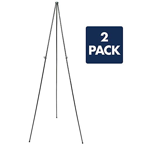 "Quartet Easel, Instant Easel Stand, 63"", Supports 5 lbs., Tripod Base, 2 Pack (29EAZ2)"
