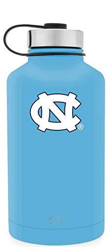 Simple Modern 64oz Summit Water Bottle - North Carolina Tar Heels Vacuum Insulated 18/8 Stainless Steel Travel Mug - North Carolina