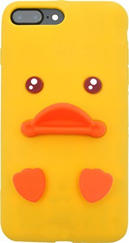 Duck Silicone - PLATA for iPhone 7plus/iPhone 8plus Case Baby Duck Silicone Rubber Soft Flexible Case back cover [ yellow ]