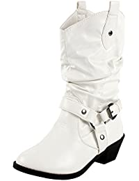 Amazon.com: White - Boots / Shoes: Clothing, Shoes & Jewelry