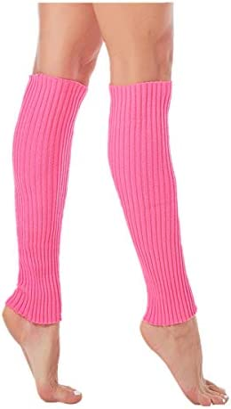 Ribbed Leg Warmers for Women Junior Neon Leg Warmers for 80s Eighty's Party Sports Yoga