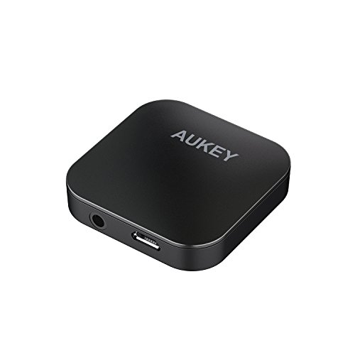 AUKEY Bluetooth Transmitter and Receiver, Mini Wireless Audio Adapter with aptX and Dual Bluetooth Link for Home Stereo Systems, TVs and More