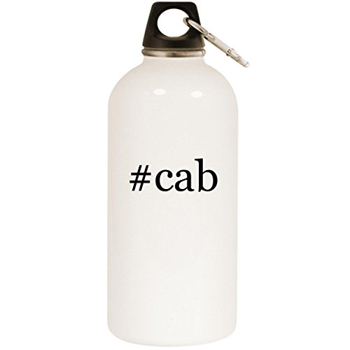 ab - White Hashtag 20oz Stainless Steel Water Bottle with Carabiner ()